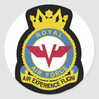RAF Patch 5 Air Experience Flight AEF Crest Patch. Classic Round Sticker