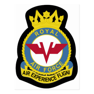 RAF Patch 5 Air Experience Flight AEF Crest Patch. Postcard
