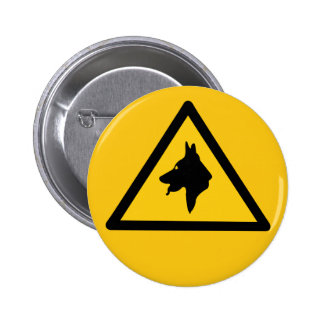 RAF Police Dogs On Patrol (1), Traffic Sign, UK Pinback Buttons