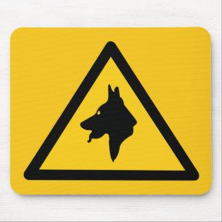 RAF Police Dogs On Patrol (1), Traffic Sign, UK Mousepad