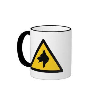 RAF Police Dogs On Patrol (1), Traffic Sign, UK Coffee Mug