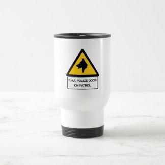RAF Police Dogs On Patrol (2), Traffic Sign, UK Coffee Mug