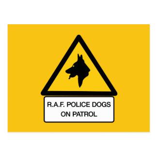 RAF Police Dogs On Patrol (2), Traffic Sign, UK Postcard