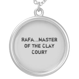 Rafa...Master of the Clay Court Silver Plated Necklace