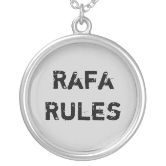 Rafa Rules Silver Plated Necklace