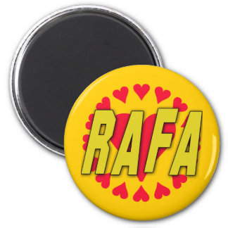RAFA with Hearts on Tshirts and More 2 Inch Round Magnet
