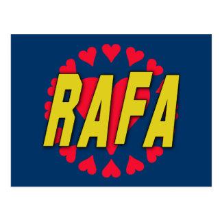 RAFA with Hearts on Tshirts and More Postcard