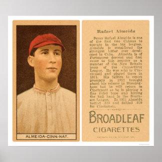 Rafael Almeida Reds Baseball 1912 Poster