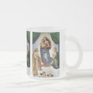 RAFAEL and Madonna Sixtina Frosted Glass Coffee Mug