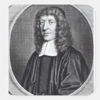 Rafael Cudworth, grabado por George Vertue Pegatina Cuadrada