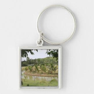 Rafael farm Silver-Colored square keychain