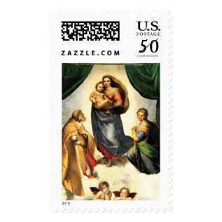 Rafael's Madonna Sistine Chapel C. 1513-14 Postage at Zazzle