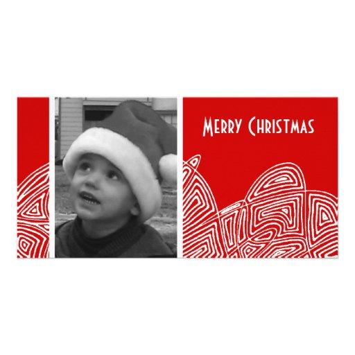 Ráfaga abstracta tarjetas con fotos personalizadas