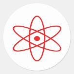 Ráfaga atómica etiqueta redonda