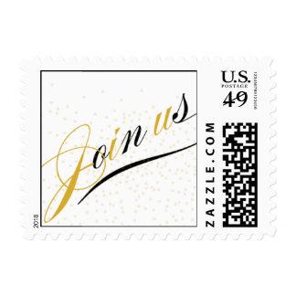 Ráfaga clásica sello postal