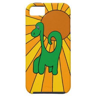 Ráfaga de Dino - caso del iPhone 5 del dinosaurio iPhone 5 Case-Mate Protectores