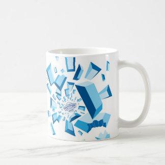 Ráfaga de la piedra preciosa taza clásica