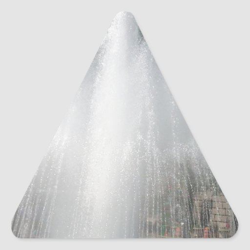 Ráfaga del agua pegatina triangular