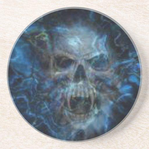 Ráfaga del azul del cráneo posavasos de arenisca