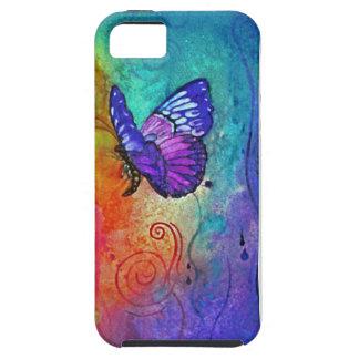Ráfaga del color de la mariposa iPhone 5 carcasa