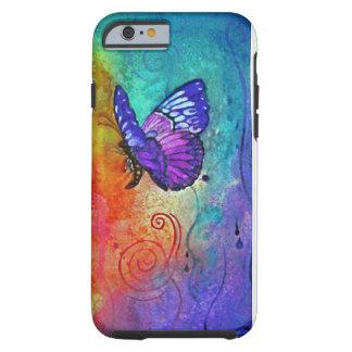 Ráfaga del color de la mariposa funda de iPhone 6 tough
