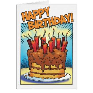 Ráfaga del cumpleaños tarjeta de felicitación