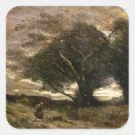 Ráfaga del viento, 1866 pegatina cuadrada