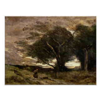 Ráfaga del viento, 1866 póster