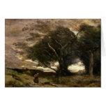 Ráfaga del viento, 1866 tarjeta de felicitación