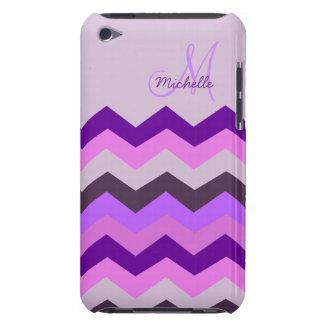 Ráfaga personalizada de la púrpura de Chevron iPod Touch Cobertura