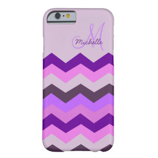 Ráfaga personalizada de la púrpura de Chevron Funda Barely There iPhone 6
