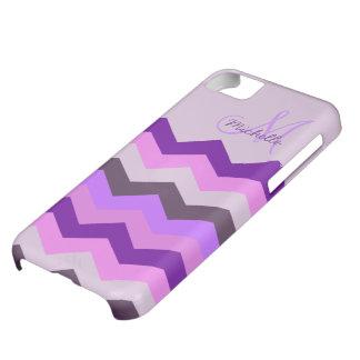 Ráfaga personalizada de la púrpura de Chevron Funda iPhone 5C