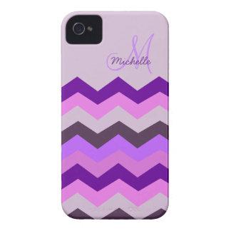 Ráfaga personalizada de la púrpura de Chevron Funda Para iPhone 4