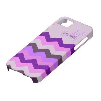 Ráfaga personalizada de la púrpura de Chevron Funda Para iPhone SE/5/5s