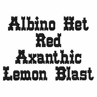 Ráfaga roja del limón del Het Axanthic del albino Sudadera Con Capucha