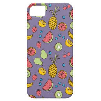 Ráfaga tropical en púrpura iPhone 5 funda