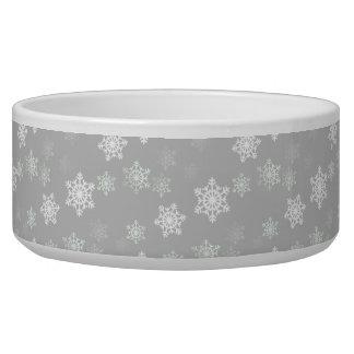 Ráfagas de nieve blancas plateadas del navidad boles para gatos