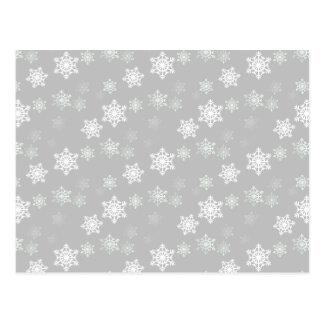 Ráfagas de nieve blancas plateadas del navidad postales