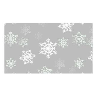 Ráfagas de nieve blancas plateadas del navidad tarjetas de visita