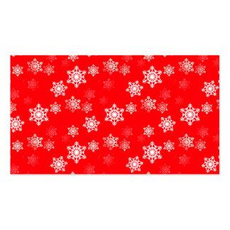 Ráfagas de nieve rojas del navidad tarjetas de visita