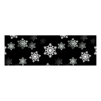 Ráfagas negras de medianoche de la escama de la tarjetas de visita mini