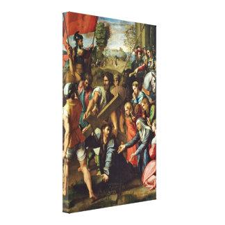 Raffael - Christ Carrying the Cross Gallery Wrap Canvas