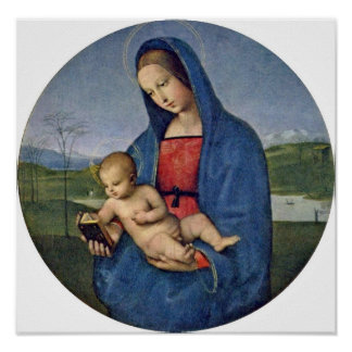 Raffael - Mary and Christ child Tondo Posters