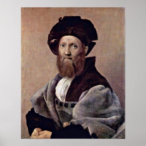 Raffael - retrato de Baldassare Castiglione Póster