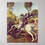 Raffael - San Jorge que luchan el dragón Posters