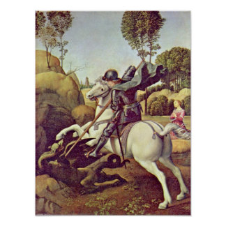 Raffael - St George fighting the dragon Poster