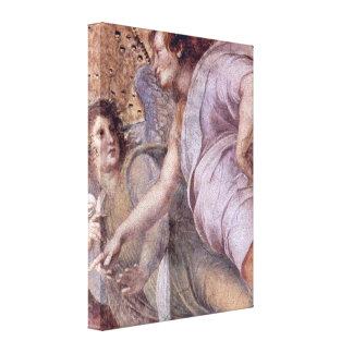 Raffaello Sanzio DA Urbino - ángel Lienzo Envuelto Para Galerías