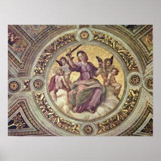 Raffaello Sanzio da Urbino - Justitia Tondo Print