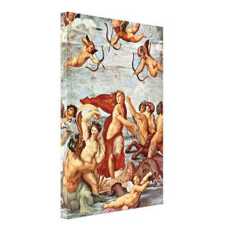 Raffaello Sanzio DA Urbino - Triumph de Galatea Lona Estirada Galerias