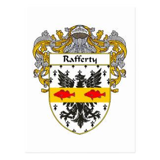 Rafferty Coat of Arms (Mantled) Postcard